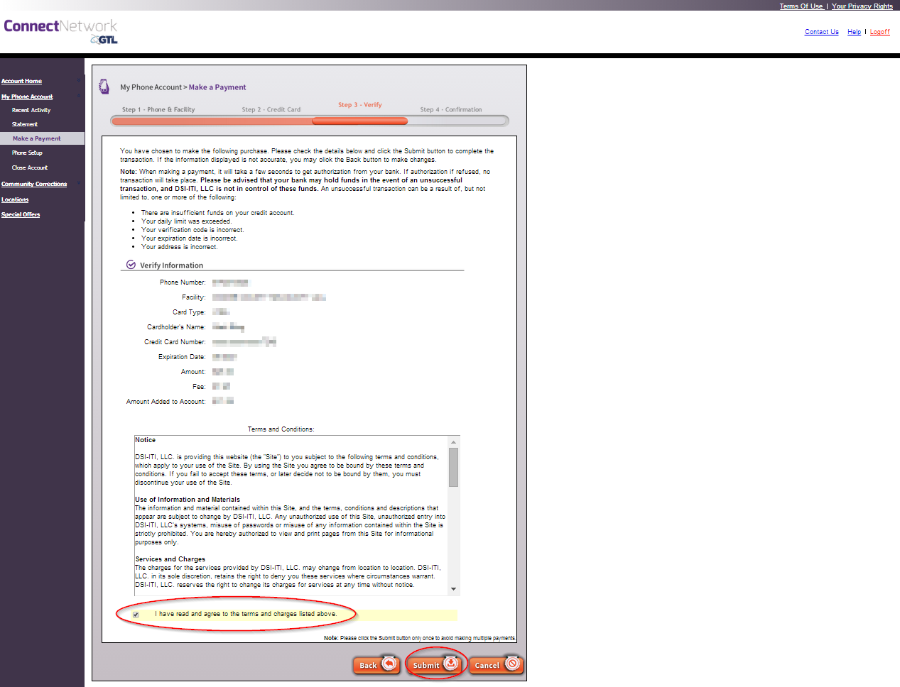 ConnectNetwork com Account Management Instructions - AdvancePay | GTL